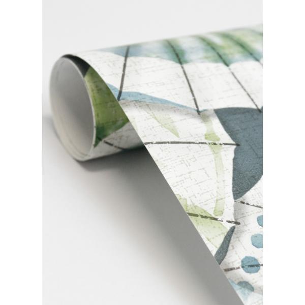輸入壁紙  ESPOIR NEW AGE  国内在庫 2764-24360 グリーン 和傘 和柄 和モダン ふすま BREWSTER テシード DIY |decoall|04