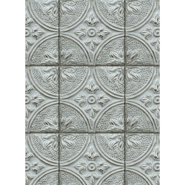 輸入壁紙  ESPOIR NEW AGE  国内在庫 2767-23765 ブルー ストーン タイル BREWSTER テシード DIY |decoall