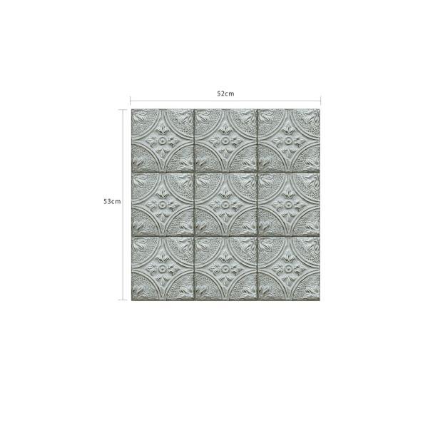 輸入壁紙  ESPOIR NEW AGE  国内在庫 2767-23765 ブルー ストーン タイル BREWSTER テシード DIY |decoall|05