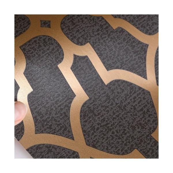 rasch 2020 輸入壁紙 309331 ゴールド ブラック 幾何学 モダン クロス 10m巻 DIY はがせる ドイツ製  国内在庫品|decoall|02