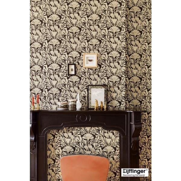 輸入壁紙  FUSION 366014  テシード 和モダン ブラック ゴールド  国内在庫品 クロス はがせる 10m巻 壁紙 |decoall