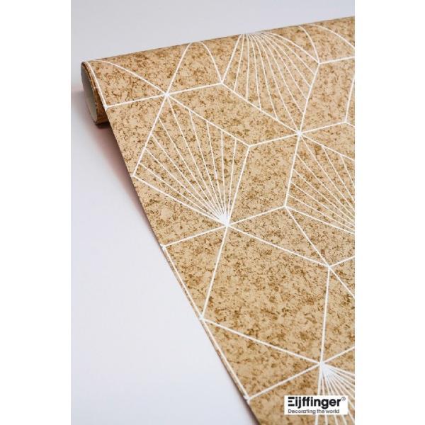 輸入壁紙  FUSION 366081  テシード 幾何学 サンドベージュ ゴールド モダン  国内在庫品 クロス はがせる 10m巻 壁紙 |decoall|03