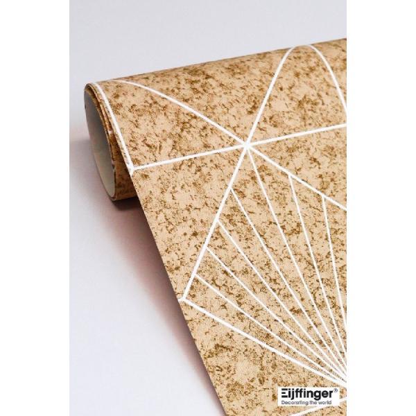 輸入壁紙  FUSION 366081  テシード 幾何学 サンドベージュ ゴールド モダン  国内在庫品 クロス はがせる 10m巻 壁紙 |decoall|04