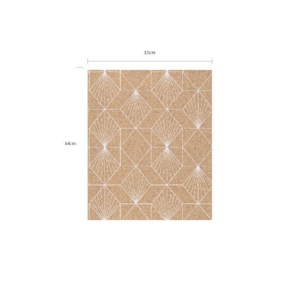 輸入壁紙  FUSION 366081  テシード 幾何学 サンドベージュ ゴールド モダン  国内在庫品 クロス はがせる 10m巻 壁紙 |decoall|05