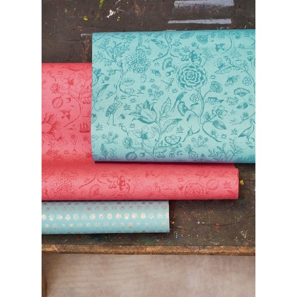 PIPSTUDIO4  375012 輸入壁紙 花 鳥 動物 昆虫 ブルー 青  DIY 貼ってはがせる オランダ製 10m巻|decoall|02