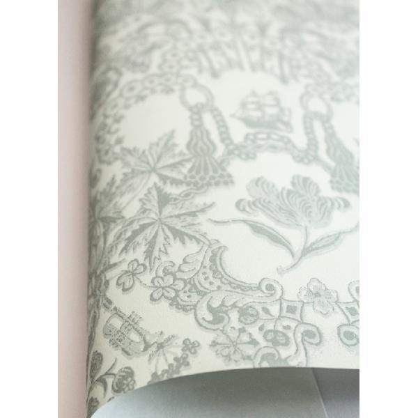 PIPSTUDIO4  375041 輸入壁紙 花柄 レース ダマスク グリーン  DIY 貼ってはがせる オランダ製 10m巻 decoall 02