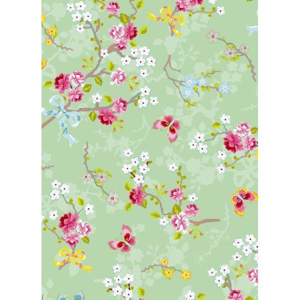PIPSTUDIO4  375073 輸入壁紙 花 リボン 蝶  グリーン  DIY 貼ってはがせる オランダ製 10m巻|decoall|02