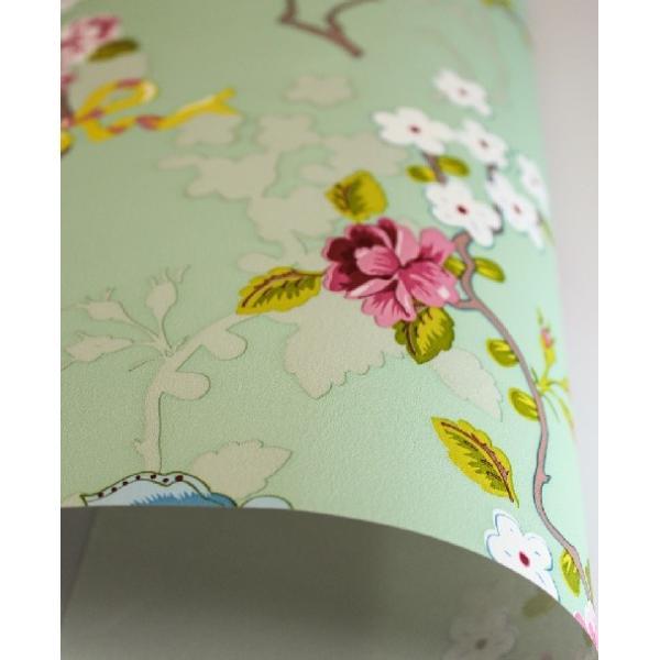 PIPSTUDIO4  375073 輸入壁紙 花 リボン 蝶  グリーン  DIY 貼ってはがせる オランダ製 10m巻|decoall|03