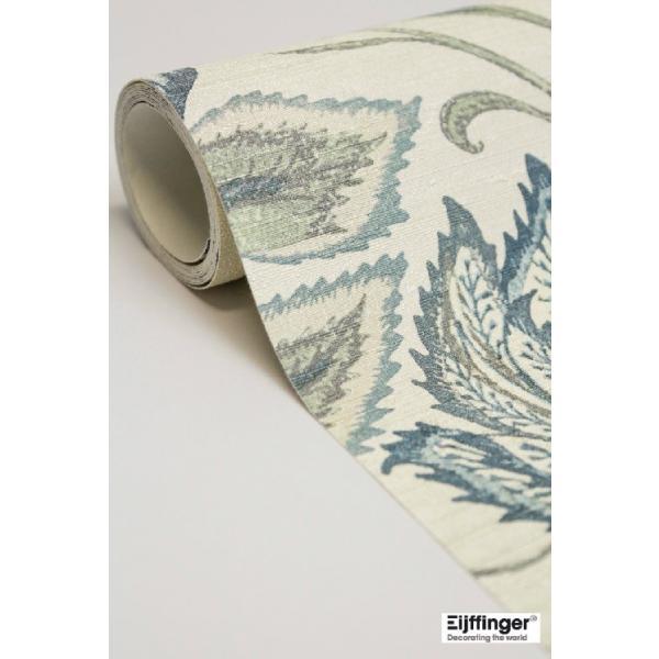 輸入壁紙  FUSION 375100  テシード フラワー ブルー ホワイト  国内在庫品 クロス はがせる 10m巻 壁紙 |decoall|04