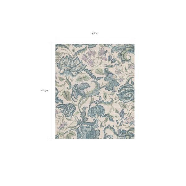 輸入壁紙  FUSION 375100  テシード フラワー ブルー ホワイト  国内在庫品 クロス はがせる 10m巻 壁紙 |decoall|05