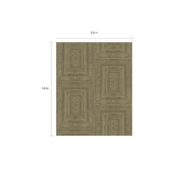 輸入壁紙  FUSION 382521  テシード タイル フェイク モスグリーン バロック調  国内在庫品 クロス はがせる 10m巻 壁紙 |decoall|03