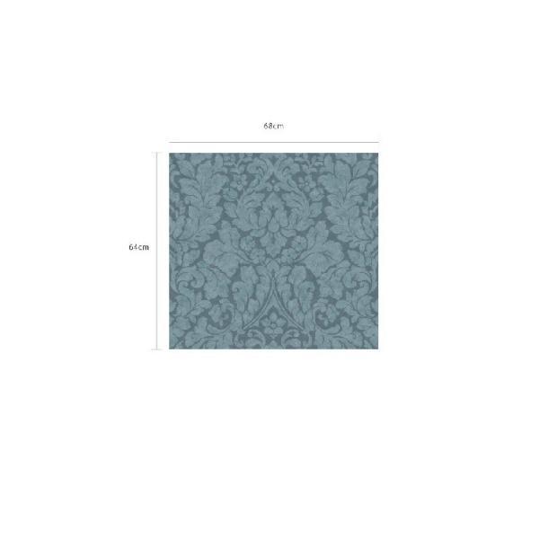 輸入壁紙  FUSION 382543  テシード ダマスク ブルー  国内在庫品 クロス はがせる 10m巻 壁紙  decoall 04