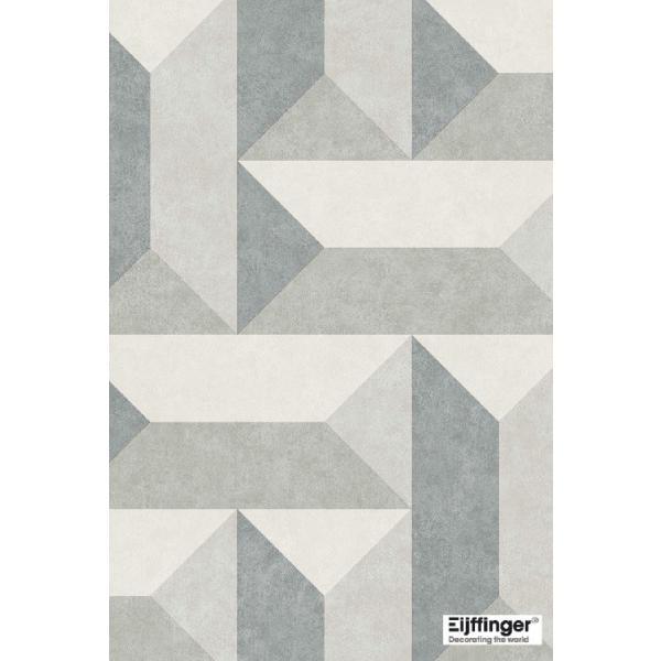 輸入壁紙  FUSION 382572  テシード 幾何学 ブルー グリーン ベージュ モダン  国内在庫品 クロス はがせる 10m巻 壁紙 |decoall