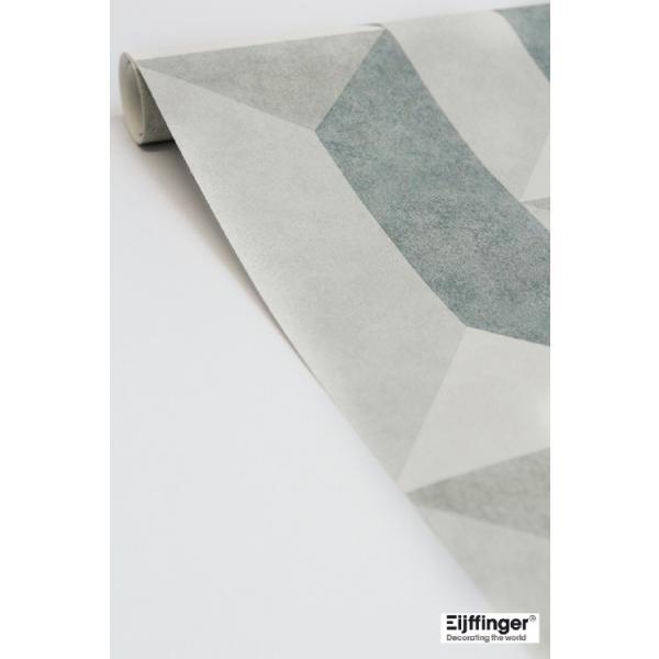 輸入壁紙  FUSION 382572  テシード 幾何学 ブルー グリーン ベージュ モダン  国内在庫品 クロス はがせる 10m巻 壁紙 |decoall|02