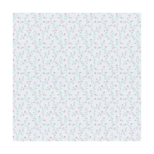 rasch 2020 輸入壁紙 400922 ライトブルー ピンク 水色 フラワー 小花柄 クロス 10m巻 DIY はがせる ドイツ製  国内在庫品 decoall