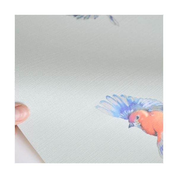 rasch 2020 輸入壁紙 401141 ライトブルー 水色 鳥 アニマル クロス 10m巻 DIY はがせる ドイツ製  国内在庫品 decoall 02