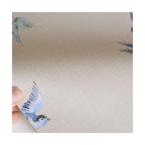 rasch 2020 輸入壁紙 401158 グレージュ グレー 鳥 アニマル クロス 10m巻 DIY はがせる ドイツ製  国内在庫品|decoall|02