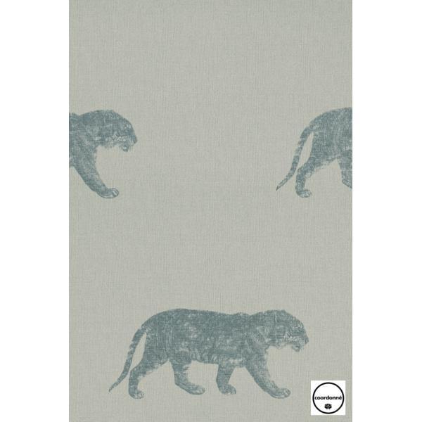 輸入壁紙 TECIDO GRIS GRIS タイガー(トラ)グリーン 4400056 decoall