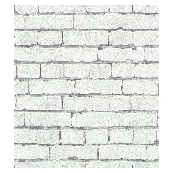 輸入壁紙 rasch2019 ラッシュ   白色 ホワイト レンガ柄 国内在庫品 441109  クロス DIY ドイツ製|decoall