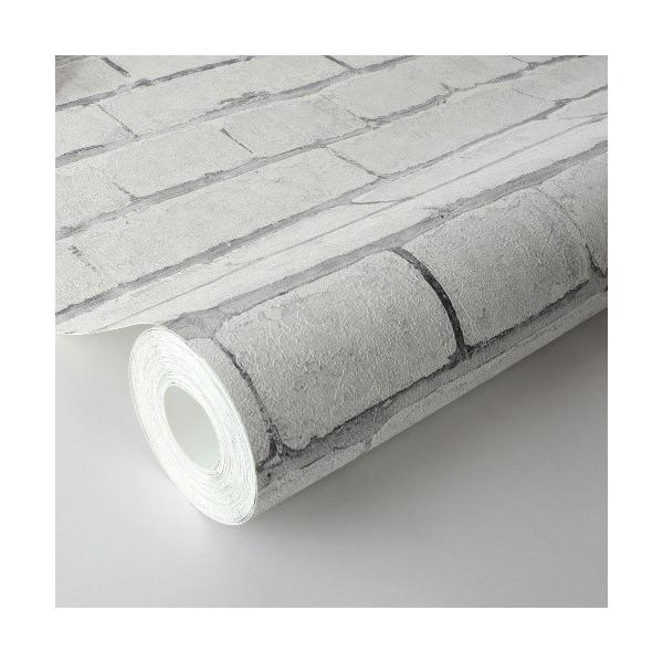 輸入壁紙 rasch2019 ラッシュ   白色 ホワイト レンガ柄 国内在庫品 441109  クロス DIY ドイツ製|decoall|03