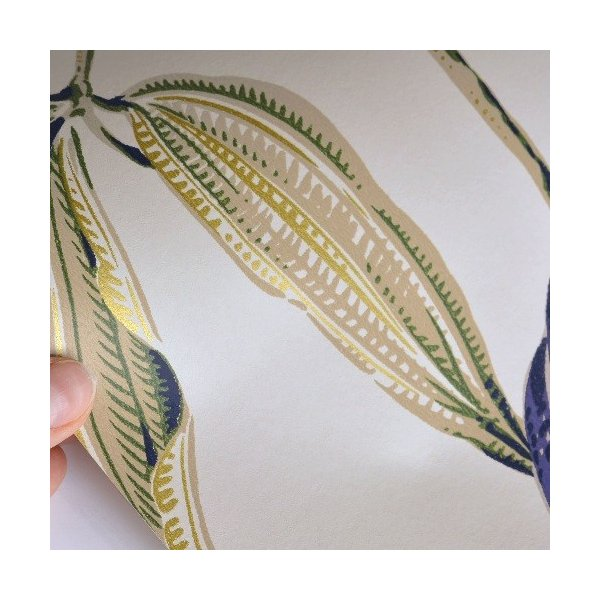 rasch 2020 輸入壁紙 525731 ホワイト パープル 白 紫 花 植物 クロス 10m巻 DIY はがせる ドイツ製  国内在庫品|decoall|02