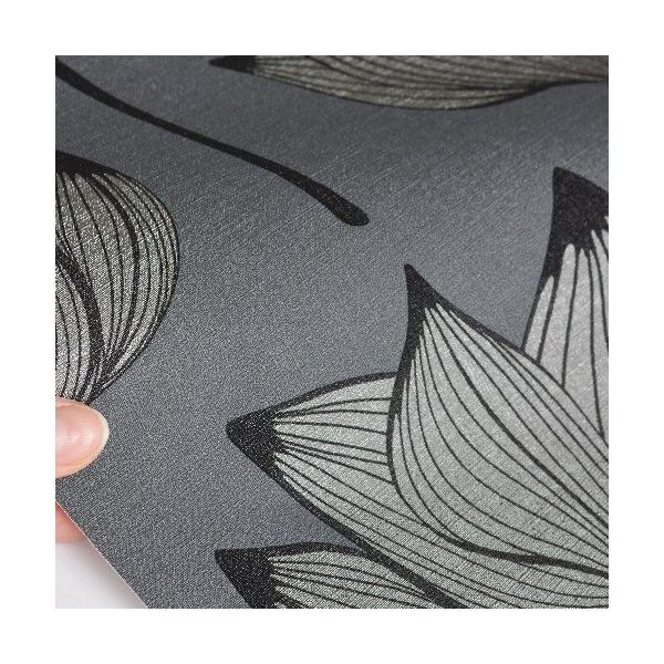 rasch 2020 輸入壁紙 530926 シルバー グレー 花柄 和風 和柄 ふすま クロス 10m巻 DIY はがせる ドイツ製  国内在庫品|decoall|02