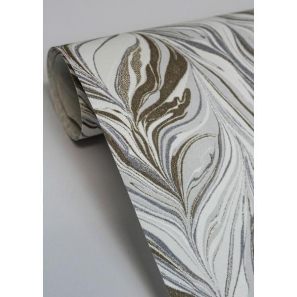 輸入壁紙  ESPOIR NEW AGE  国内在庫 73890102 マーブル模様 茶 白 モダン CASAMANCE テシード DIY |decoall|05