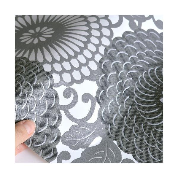 rasch 2020 輸入壁紙 759020 ホワイト 白 グレー 花柄 和風 和柄 ふすま クロス 10m巻 DIY はがせる ドイツ製  国内在庫品|decoall|02