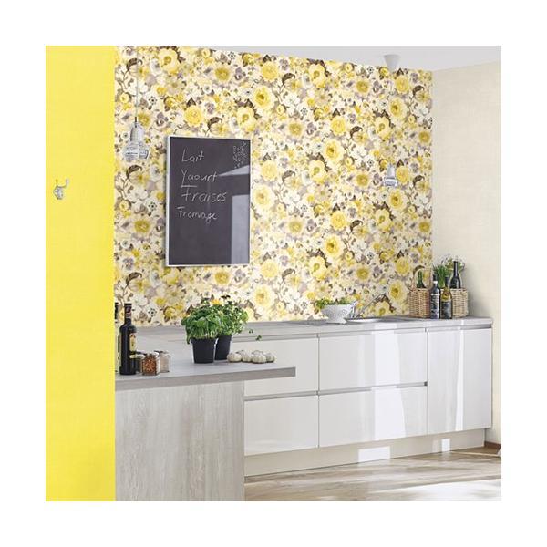 輸入壁紙 rasch2019 ラッシュ 花柄 シノワズリ 黄色 国内在庫品 803532 クロス 10m DIY ドイツ製|decoall|04