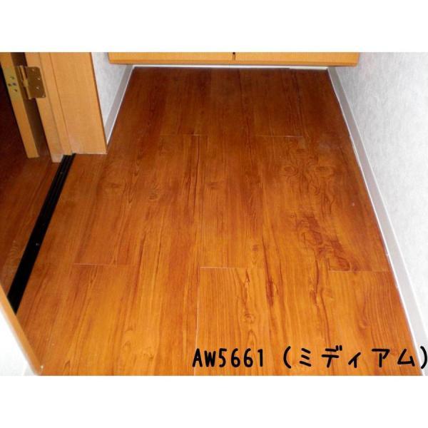 床材 フローリング フロアタイル デコウッド DECO-WOOD  22枚入 シール付き 貼るだけ 粘着剤付き 木目柄 簡単 リフォーム 内装 腰壁 decoall 10
