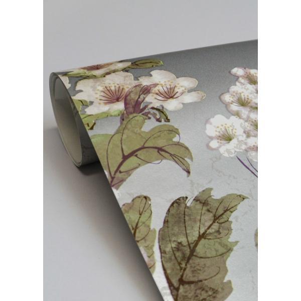 輸入壁紙  ESPOIR NEW AGE  国内在庫 GA6962 シルバー 花柄 和モダン ふすま YORK テシード DIY |decoall|03