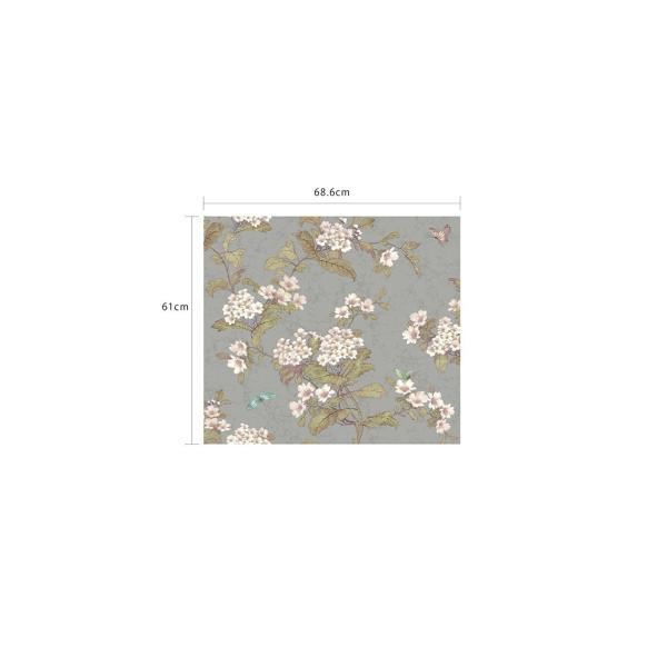 輸入壁紙  ESPOIR NEW AGE  国内在庫 GA6962 シルバー 花柄 和モダン ふすま YORK テシード DIY |decoall|04
