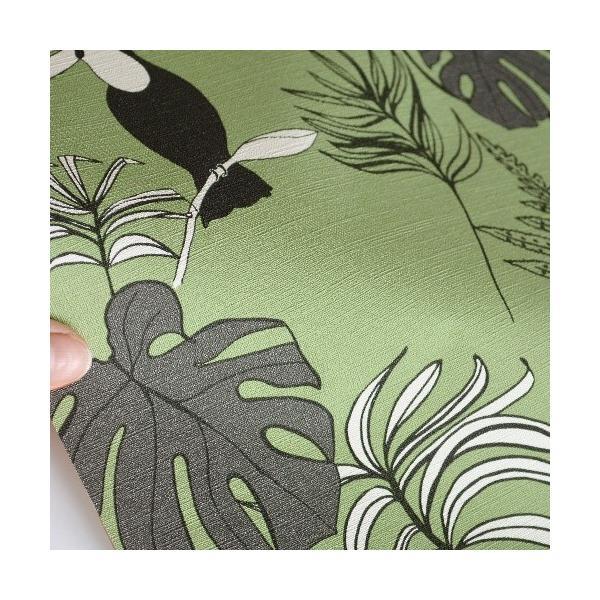 はじめてセット rasch 2020 輸入壁紙   531817 グリーン 緑 動物 アニマル  クロス 10m巻 DIY は がせる ドイツ製  国内在庫品|decoall|03
