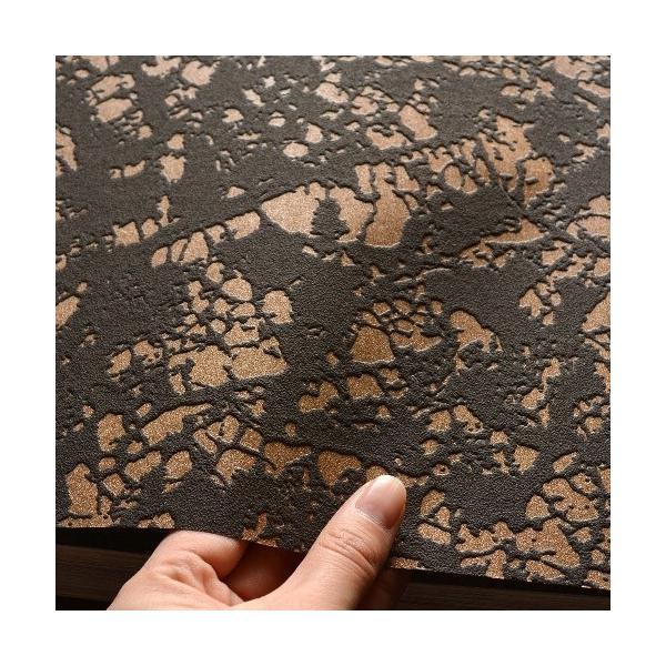 はじめての輸入壁紙DIYセット ドイツrasch(ラッシュ) 葉 葉脈 茶 ゴールド ダークグレー 光沢あり 801224 クロス DIY rasch2019 はがせる|decoall|03