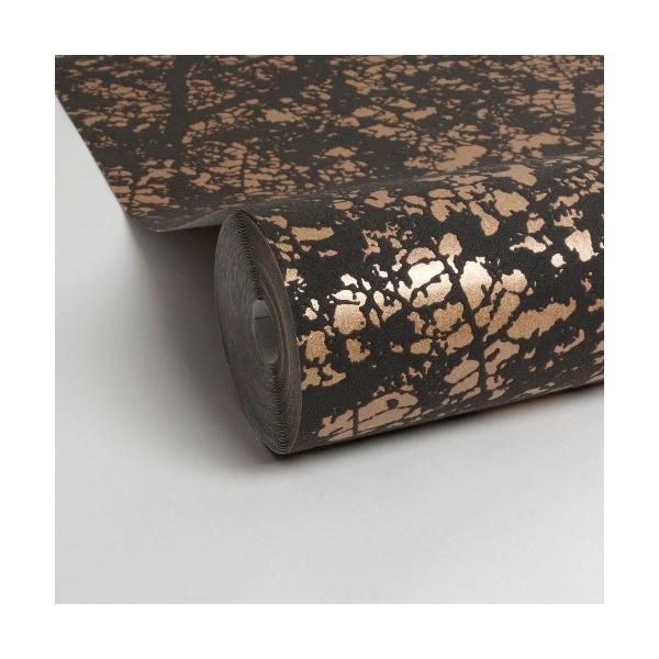 はじめての輸入壁紙DIYセット ドイツrasch(ラッシュ) 葉 葉脈 茶 ゴールド ダークグレー 光沢あり 801224 クロス DIY rasch2019 はがせる|decoall|04