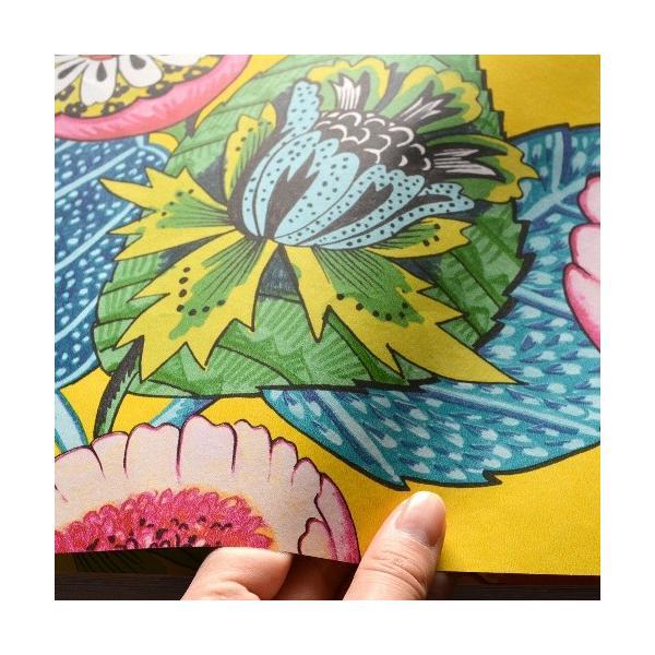 はじめての輸入壁紙DIYセット ドイツrasch(ラッシュ) 花 ビビットカラー アジアンテイスト 黄色 カラフル 803624 クロス DIY rasch2019 はがせる|decoall|03