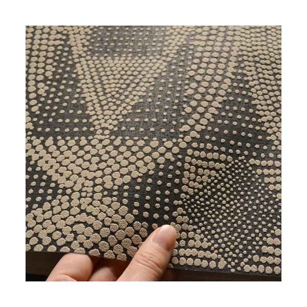 はじめての輸入壁紙DIYセット ドイツrasch(ラッシュ) 幾何学 茶 ブラウン アボリジニ カルチュラル 861839 クロス DIY rasch2019 はがせる|decoall|03
