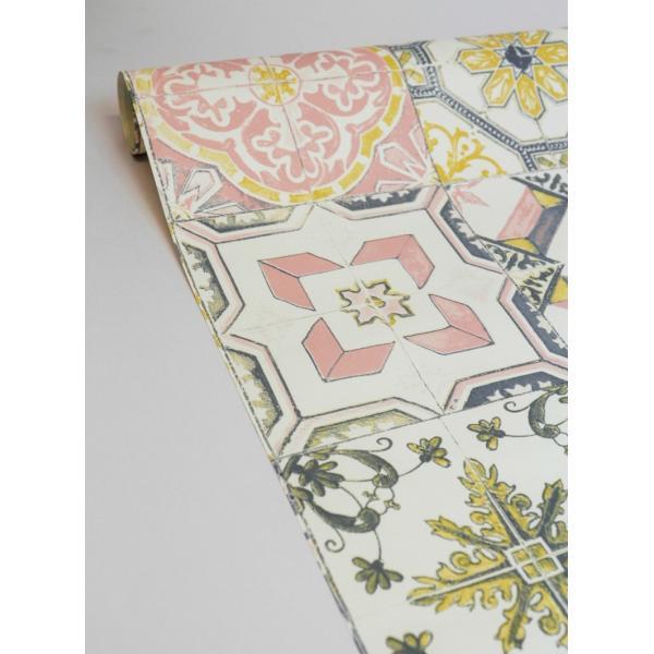 輸入壁紙  ESPOIR NEW AGE  国内在庫 MATE6926044 ピンク タイル柄 モロッカン CASELIO テシード DIY |decoall|04