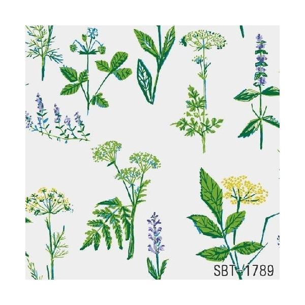 輸入壁紙 SBT-1789 グリーン イエロー ホワイト 草花 LISBETJOBS KOKS-VAXTER スウェーデン クロス 10m|decoall|02