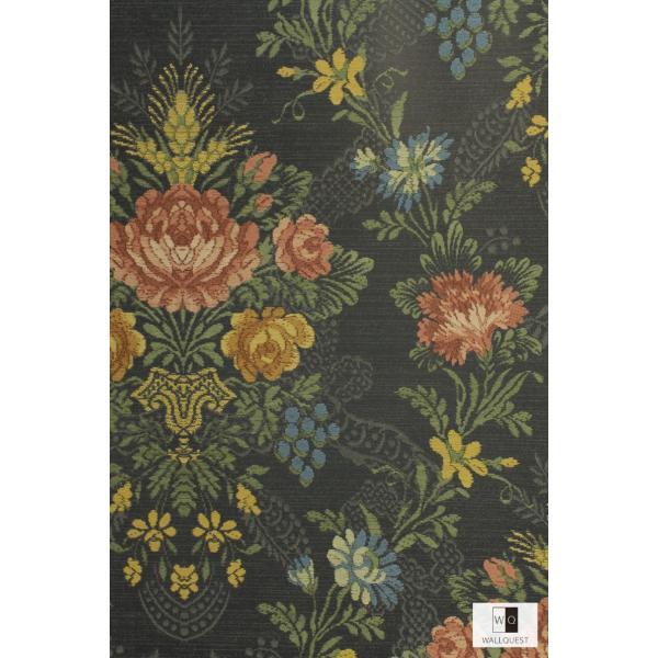 輸入壁紙 アンティーク花柄ブラック TS70300|decoall|02