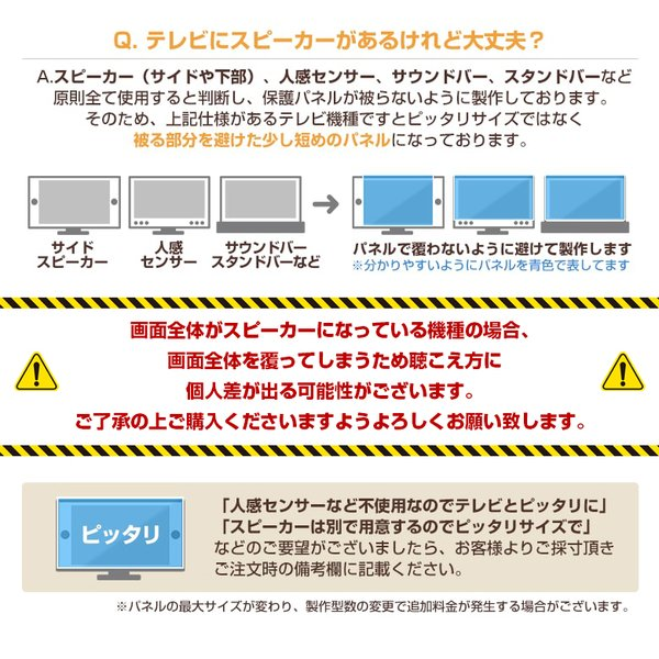 液晶テレビ保護パネル32型(32インチ)UV・ブルーライトカット【厚2ミリ通常(光沢グレア仕様)】32型対応【テレビ保護カバー・4K・8K・有機EL対応】|decodecoshop|13
