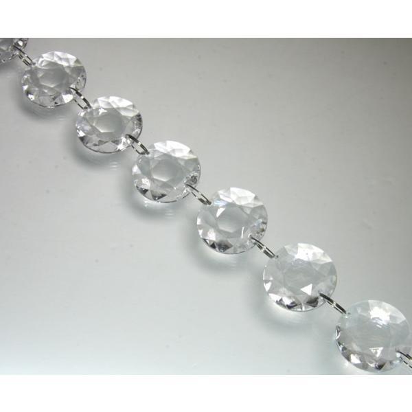 クリスタルガーランド/アクリル製シャンデリアチェーンB30×10個連結クリア|decoline