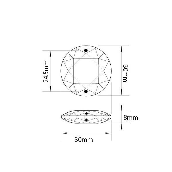 クリスタルガーランド/アクリル製シャンデリアチェーンB30×10個連結クリア|decoline|03