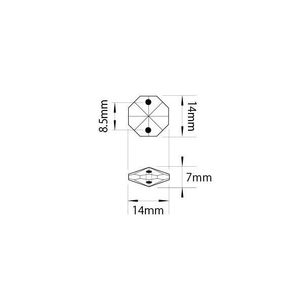 アクリルシャンデリアパーツ/クリスタルビーズオクタゴン14mmクリア|decoline|02