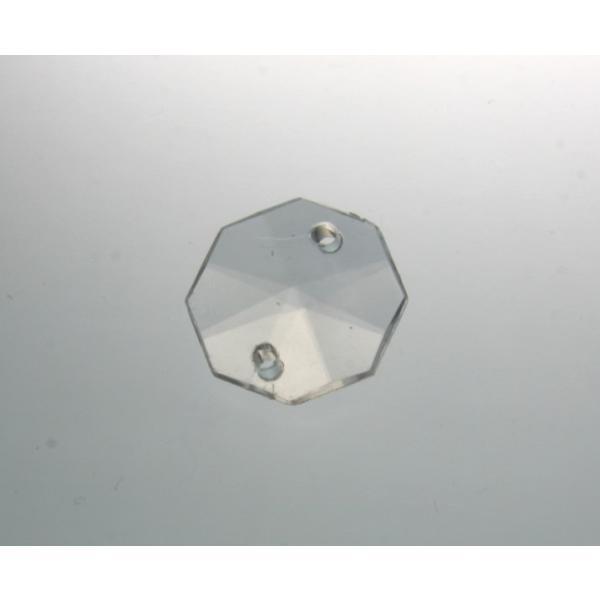 アクリルシャンデリアパーツ/クリスタルビーズオクタゴン18mmクリア|decoline