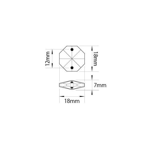 アクリルシャンデリアパーツ/クリスタルビーズオクタゴン18mmクリア|decoline|02