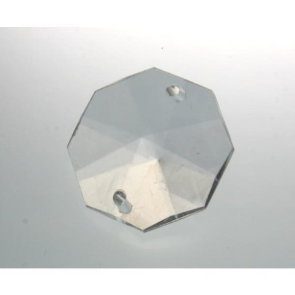 アクリルシャンデリアパーツ/クリスタルビーズオクタゴン28mmクリア|decoline