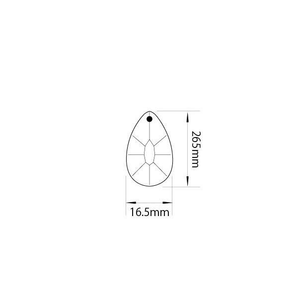 アクリルシャンデリアパーツドロップ型オーナメントF26クリア decoline 03