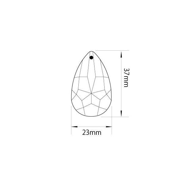 アクリルシャンデリアパーツドロップ型オーナメントF40クリア|decoline|03