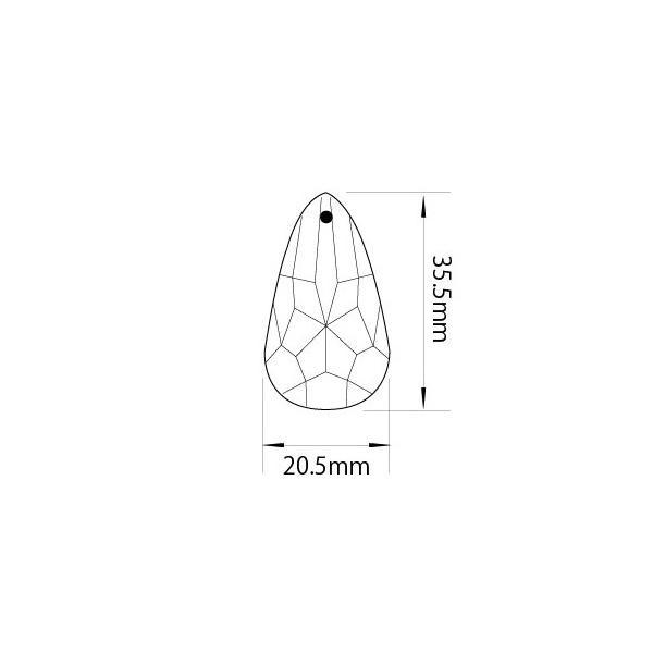 アクリルシャンデリアパーツドロップ型オーナメントF40シェープタイプ クリア|decoline|03